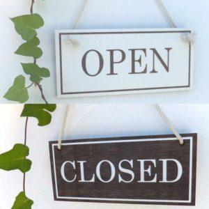 オープン&クローズド看板