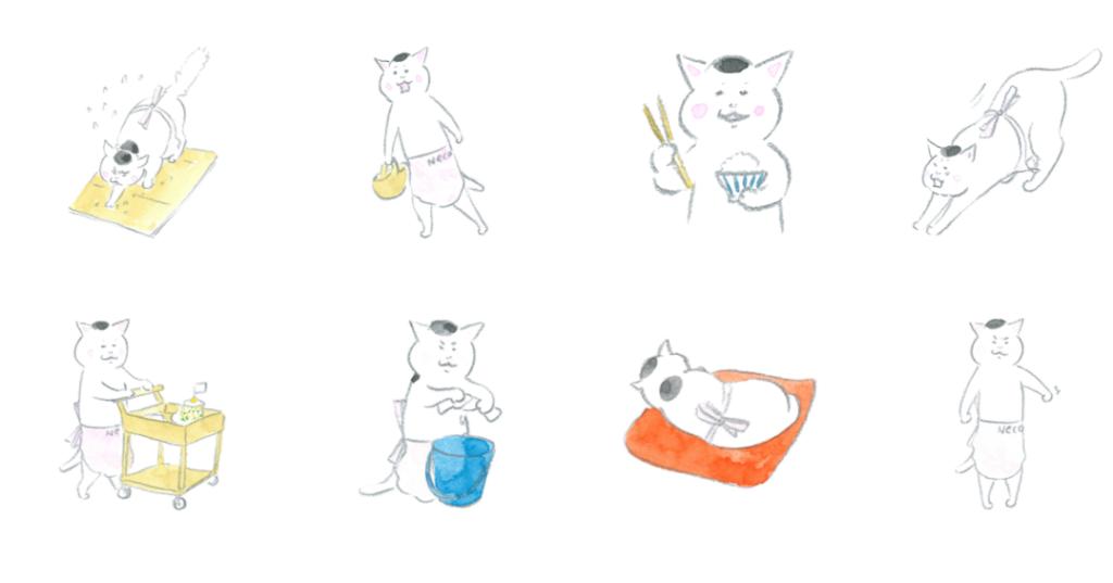 きょうの猫村さんのLINEスタンプ