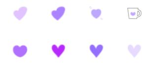 紫色のハート