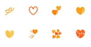 オレンジのハート