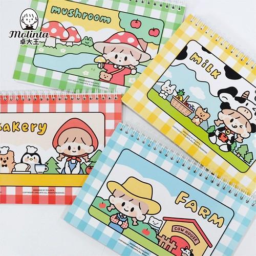 モリンタ Farm Series シール帳/剥離紙帳 全4種